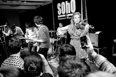 Syracuse indie rockers Ra Ra Riot delivered a set full of spot-on baroque pop during their sold-out Wednesday-night stint at SOhO.
