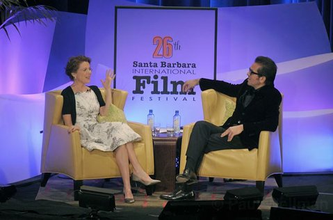 Annette Bening and Roger Durling