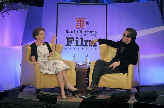 Annette Bening and Roger Durling