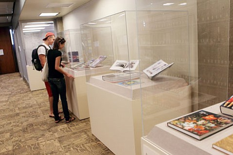 The art books on display.