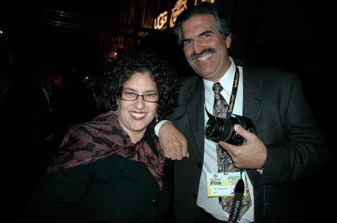 Helene Schneider and John Palminteri