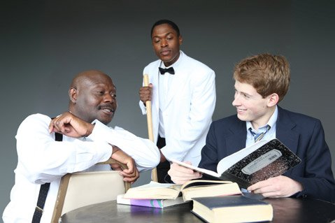 "Chris Erric Maddox, Daniel Stewart, and Anthony J. Haney star in <em>""Master Harold""... and the Boys</em>."