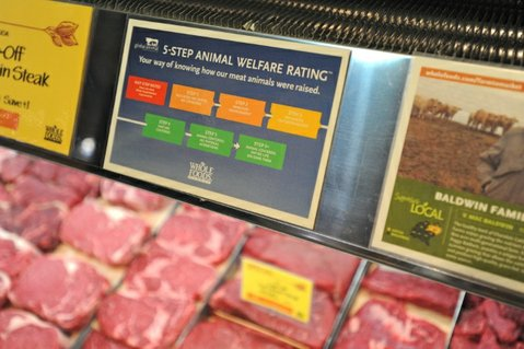 Whole Foods 5-Step Animal Welfare Rating