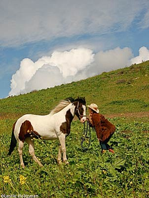 Linda Wilkey and her horse, Gypsy