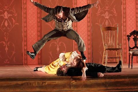 "Anton Chekhov's <em>""The Proposal""</em> at Westmont's Porter Theatre."