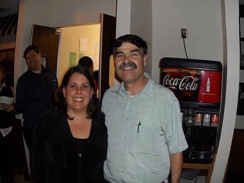 Contest winner Jenni-Marie Peterson and Petrini's owner Joe Bohnett
