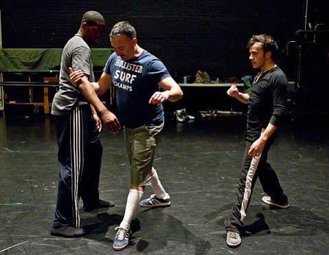 "Choreographer Doug Elkins's ""Mo(or)town"" will debut at the Lobero March 18. Elkins (right) with dancer Gregory Osborne."