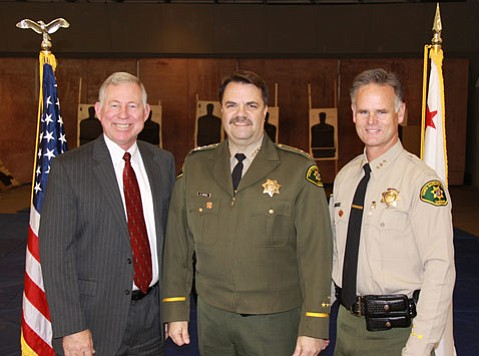 Left to right, retired Undersheriff Ken Shemwell, Sheriff Bill Brown, Undersheriff Jim Peterson
