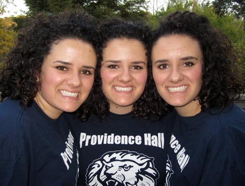 The Bishop triplets.