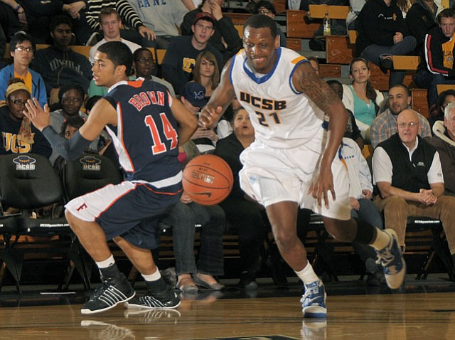 UCSB's James Nunnally (#21) helped the Gauchos earn a perch in the NCAA men's tournament.