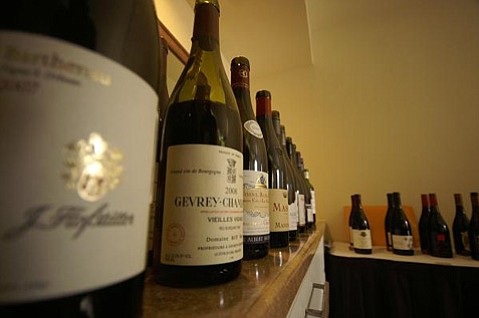 The wines were piling up in the media room at World of Pinot Noir 2011.