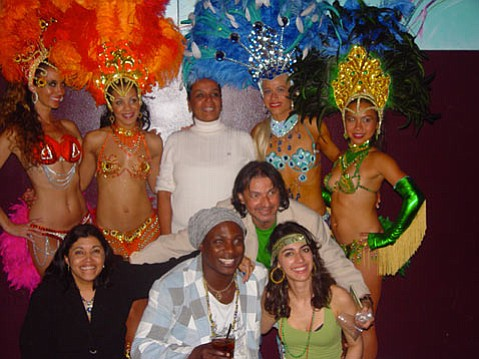 The dancers, with Ana Petta center back, Maestro Mariano from the carnival club second from left front, and Lindenberg Jr. to his right.