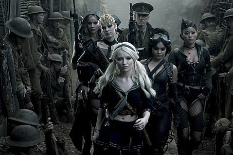 <strong>PUNCH-DRUNK SUCK: </strong> Emily Browning leads the pack as an institutionalized girl who escapes to various fantasy worlds, including revamped World War I trenches, in Zack Snyder's half-baked <em>Sucker Punch</em>.