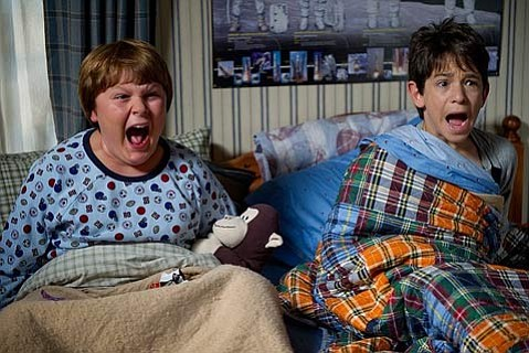 """<strong>REVENGE OF THE WIMPS:</strong>  Zachary Gordon (right) plays """"wimpy kid"""" Greg alongside Robert Capron as his buddy Rowley in the family-friendly sequel <em>Diary of a Wimpy Kid: Rodrick Rules</em>."""