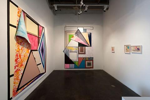 Bloom Projects: Sarah Cain, Santa Barbara, Installation view at Santa Barbara Contemporary Arts Forum.