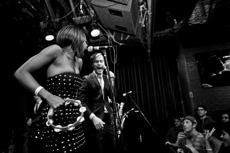 """Noelle Scaggs (left) and Michael """"Fitz"""" Fitzpatrick (right) at Friday night's sold out Fitz and the Tantrums show."""