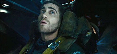 <strong>TELECOMMUTING:</strong>  Jake Gyllenhaal plays a soldier tasked with finding a bomber on a commuter train through repeatedly inhabiting the mind of one of its passengers in <em>Source Code</em>.