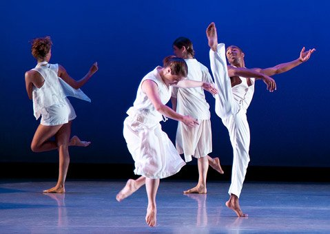 """The UCSB Dance Company in Jennifer Muller's """"Speeds."""""""