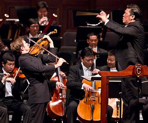 China Philharmonic, Long Yu w/Renaud Capuçon at the Granada Theatre.