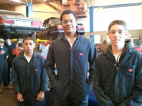 left to right: Manuel Medina, Christian Mkpado, Robbie Behlman (all seniors)