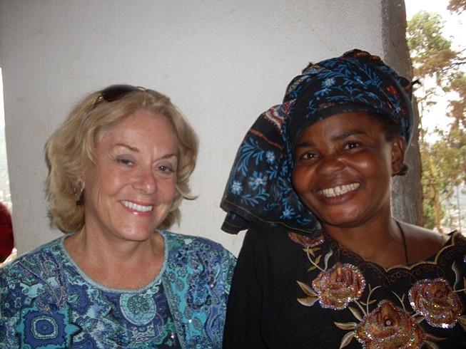 Dr. Victoria Bentley (left) and one of her patients