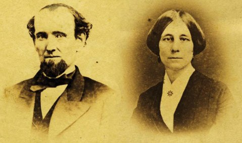 Martin M. Kimberly and Jane Merritt Kimberly, c. 1865.