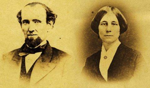 Martin M. Kimberly and Jane Merritt Kimberly, c. 1865.