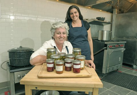 Goodland Kitchen co-owners Julia Crookston (left) and Melissa Gomez at their newly opened market and community kitchen in Old Town Goleta.