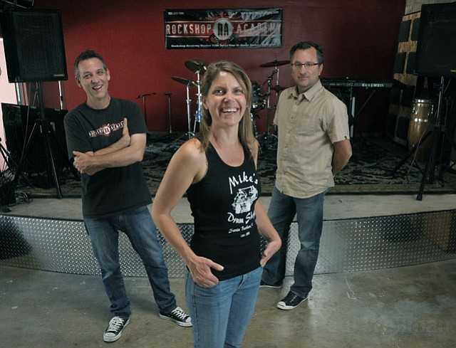 Rockshop Academy cofounders (from left) George Pendergast, Terry Baxter, and David Young.