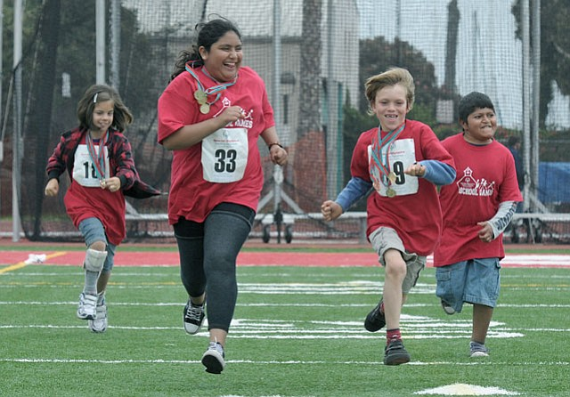 Students from Carpinteria's Canalino School have one last race following the 2011 Santa Barbara County Special Olympics