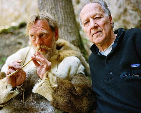 <em>Cave of Forgotten Dreams</em> is Werner Herzog's (right) doc exploring ancient artwork in the Chauvet Cave.
