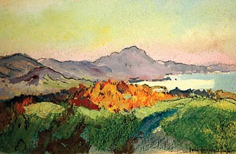 """Rincon Peak, Santa Barbara, Mesa"" by Colin Campbell Cooper."