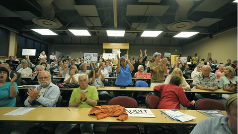 Thursday's meeting of the Santa Barbara City College Board of Trustees saw a large turnout of people concerned with where the school is headed