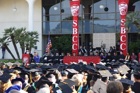 Santa Barbara City College's Student Services Plaza was the site of the 62nd Annual Commencement ceremony.