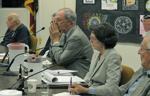Goleta Water District Board members at the rate increase meeting. June 1, 2011.