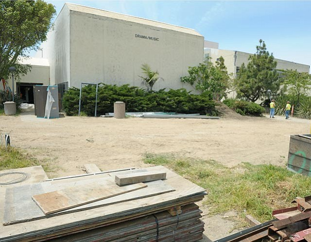 Construction on SBCC's Drama Music Building