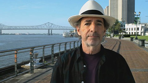 <strong>NOT LAUGHING:</strong>  Funnyman Harry Shearer takes a scrutinizing look at the disastrous response to Hurricane Katrina in his engaging doc, <em>The Big Uneasy</em>.