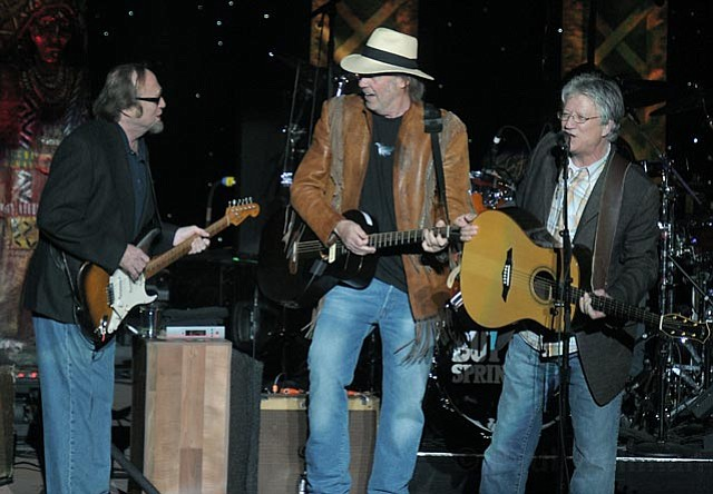 Buffalo Springfield at the Santa Barbara Bowl From left, Stephen Stills, Neil Young, and Richie Furay