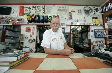 Phil Unander, owner of Larry's Auto Parts (June 13, 2011)