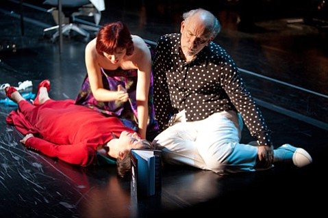<em>The Infernal Comedy — Confessions of a Serial Killer</em> featuring John Malkovich, a Baroque orchestra, and two sopranos.