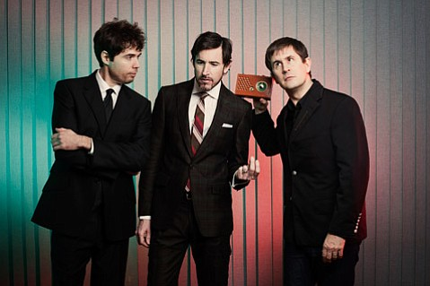 Mountain Goats are (from left) Jon Wurster, Peter Hughes, and John Darnielle.