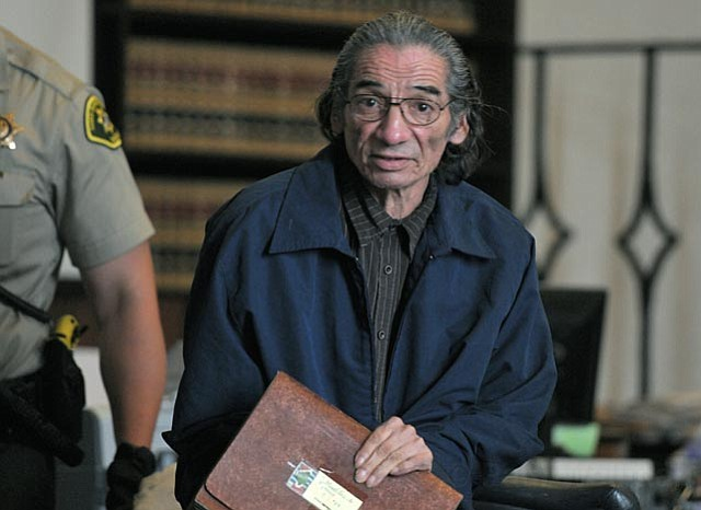 "June 23, 2011 -- Samuel Joseph ""Joe"" Martinez, accused of beating a homeless women in 2006 so severely that she was put in a coma for several days, leaves the courtroom on the second day of his jury trial."