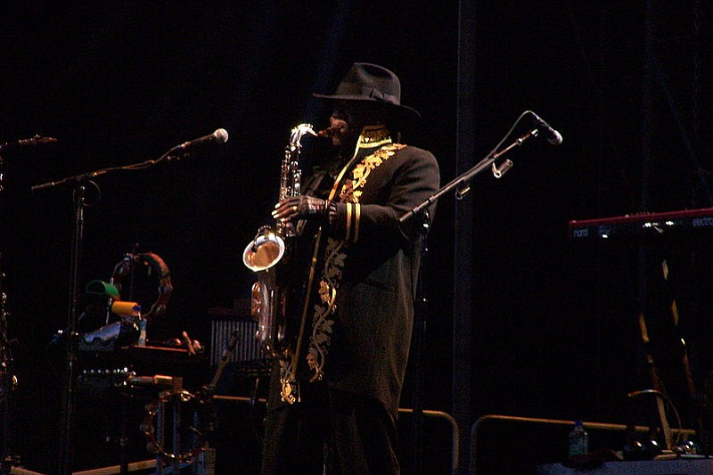 Clarence Clemons performs with Bruce Springsteen and the E Street Band at Estadio José Zorrilla, Valladolid, Spain in 2009.