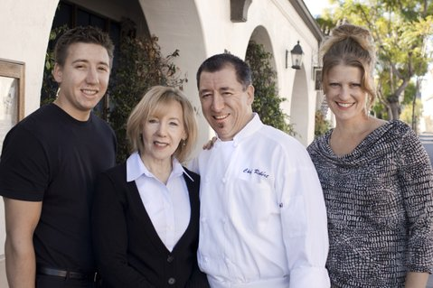 Seagrass restaurant participates in the Food Scraps program, and is advocating for it, but funding for the composting initiative that started two years ago is now on the city's chopping block. The owners and operators of of the family-run Seagrass, from left: Erin Gailsdaughter, Chef Robert Perez, Marianne Perez, and Ruben Perez.