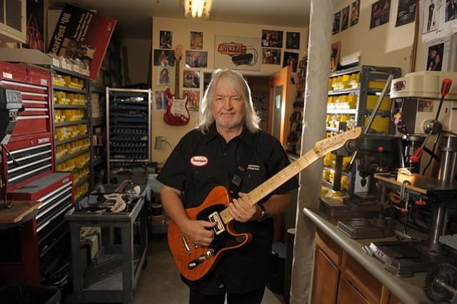 Seymour Duncan at his current guitar pickup factory in Goleta.