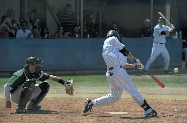 Derek Legg, who was crowned tournament MVP, hit a home run in the fourth inning of Sunday's game against Menlo Park, and put the Foresters in the lead.