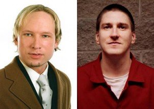 Anders Breivik (left) and Timothy McVeigh