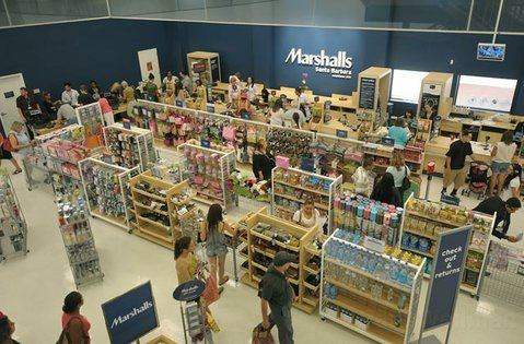 Opening day at Marshalls in Santa Barbara Aug 4, 2011