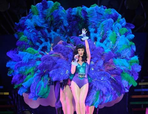 Katy Perry struts her (feathered) stuff this weekend at the Santa Barbara Bowl.