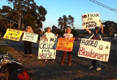 PETA rodeo protest